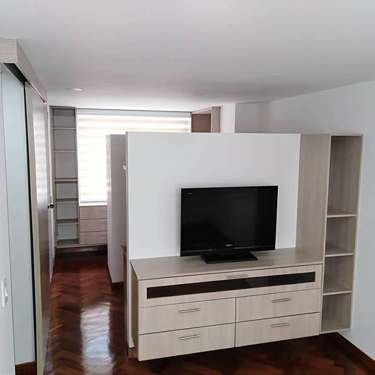 Apartaestudio: Habitaciones de estilo  por Erick Becerra Arquitecto