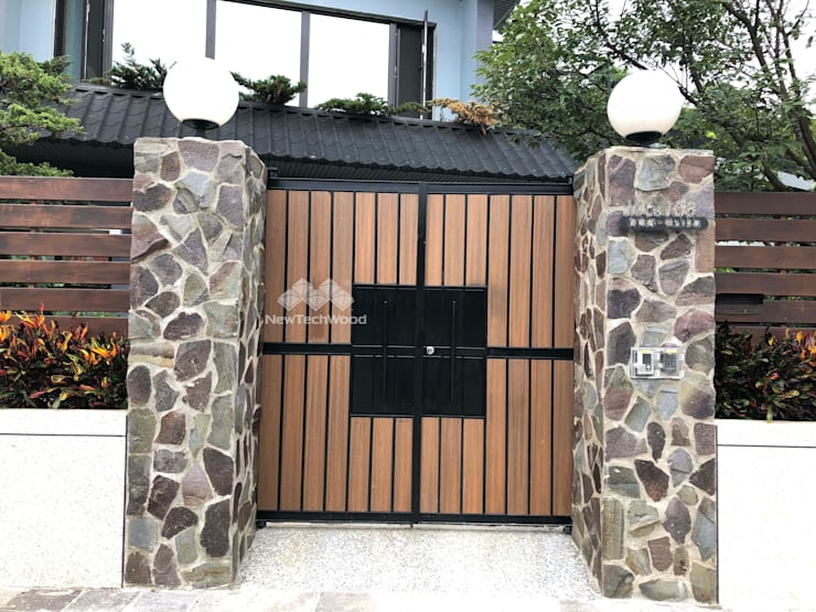 Villas de estilo  de 新綠境實業有限公司, Escandinavo Compuestos de madera y plástico