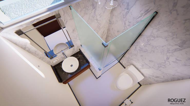 BAÑO: Baños de estilo  por Roguez Arquitectos