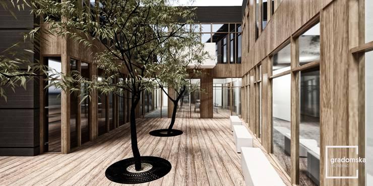 Hala produkcyjno-biurowa: styl , w kategorii  zaprojektowany przez gradomska architekci
