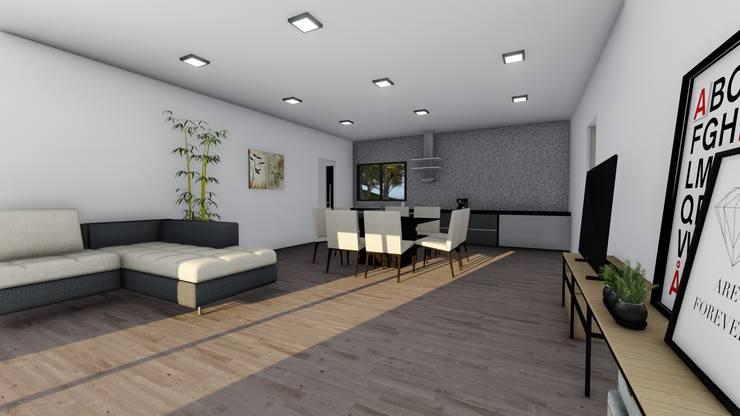 Modelo | T3 169m²: Casas de madeira  por Discovercasa | Casas de Madeira & Modulares