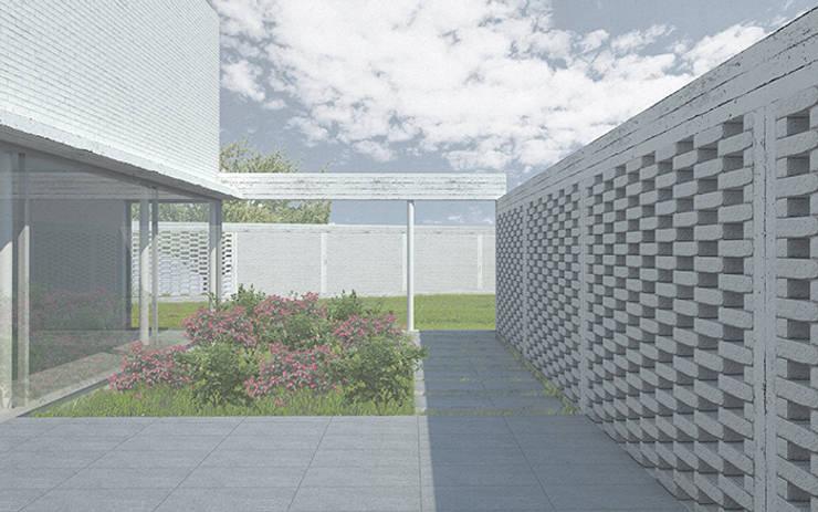 Patio: Terrazas  de estilo  por mutarestudio Arquitectura
