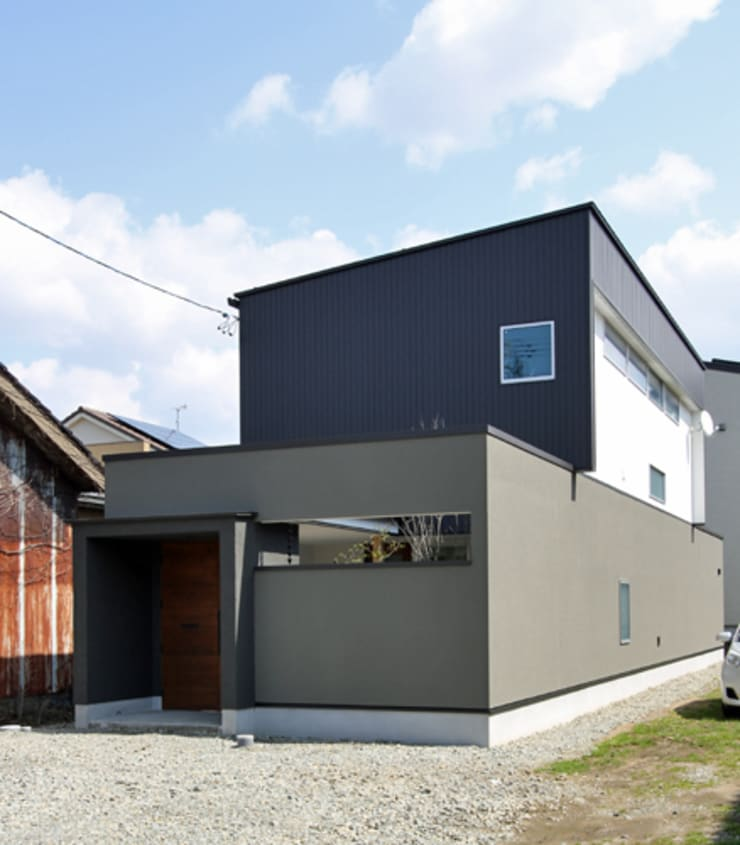 Houses by 福田康紀建築計画, Modern Iron/Steel