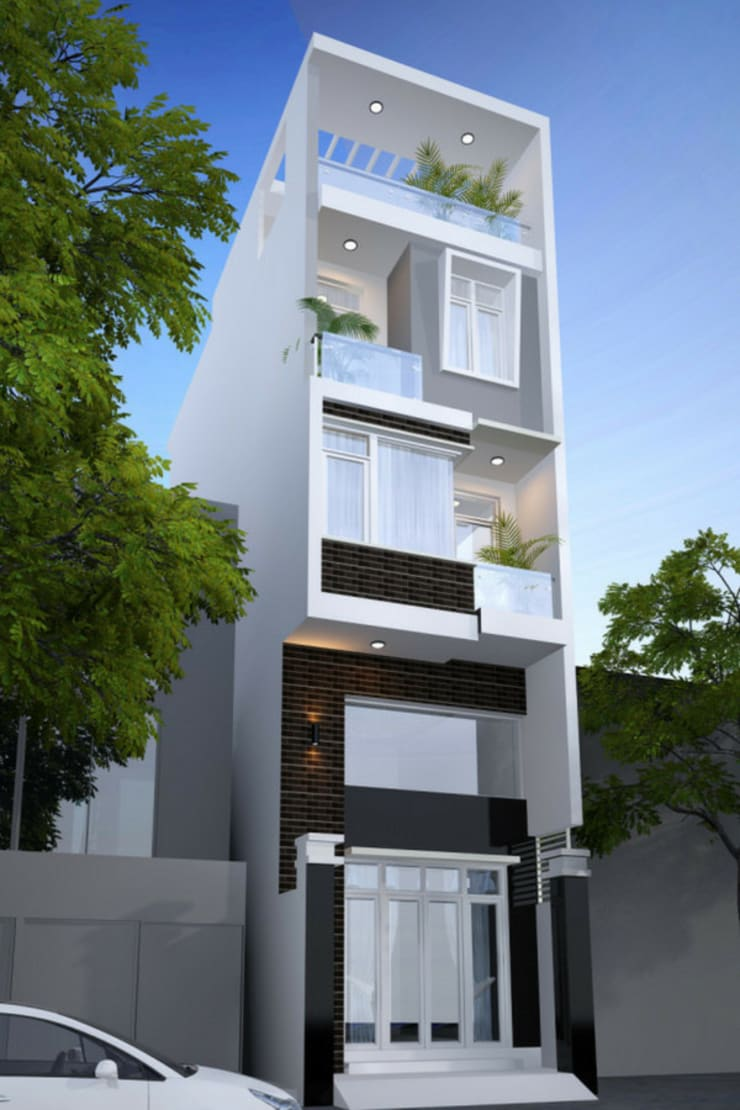 Nhà gia đình by Công ty thiết kế xây dựng Song Phát