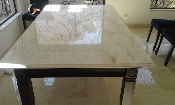 Reez :  Dining room by Gramatile cc / GMT Granite, Modern Marble