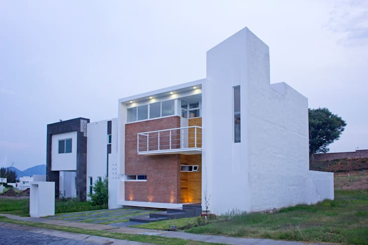 Facha Frontal: Casas de estilo  por Bojorquez Arquitectos SA de CV
