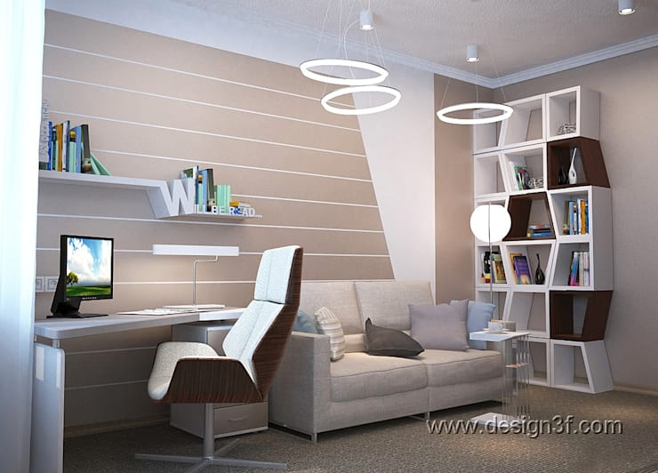 Комната в современном стиле для юноши: Рабочие кабинеты в . Автор – студия Design3F, Минимализм