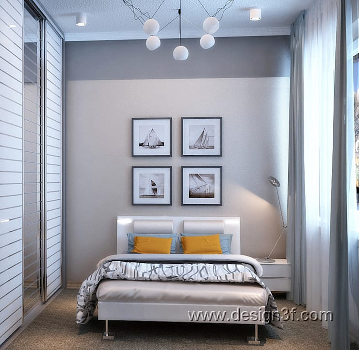 Комната в современном стиле для юноши: Спальни в . Автор – студия Design3F, Минимализм
