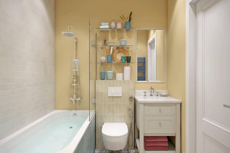Апартаменты  40 кв.м., в стиле эклектика ЖК I*m.: Ванные комнаты в . Автор – Студия архитектуры и дизайна Дарьи Ельниковой