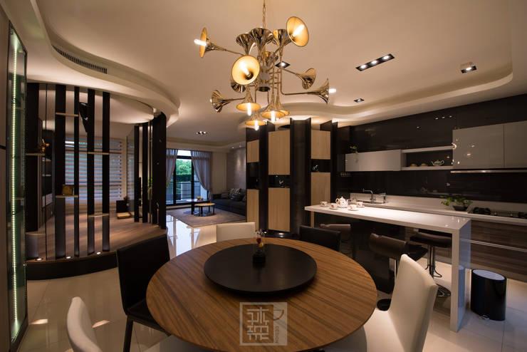 柯公館:  餐廳 by 沐築空間設計