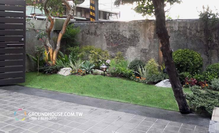 熱島秘境:  庭院 by 大地工房景觀公司