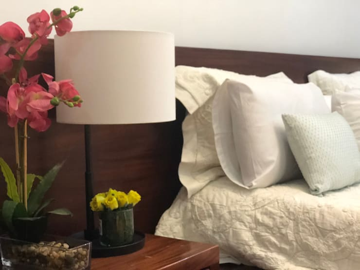 Masterbedroom:  Bedroom by SNS Lush Designs and Home Decor Consultancy