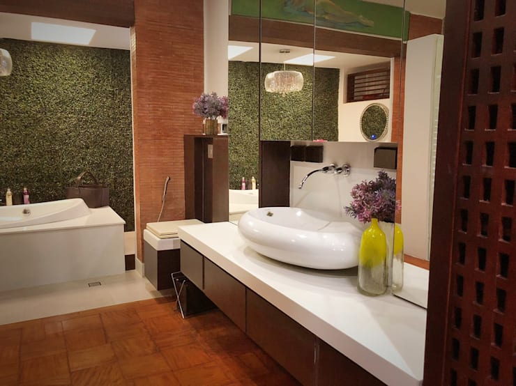 Master Toilet and Bath:  Bathroom by SNS Lush Designs and Home Decor Consultancy