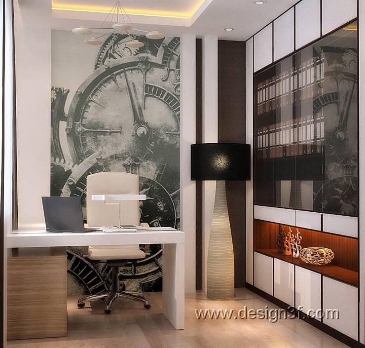 Маленький кабинет в современном стиле: Рабочие кабинеты в . Автор – студия Design3F, Минимализм