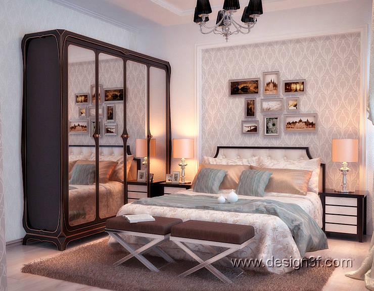 Красивая спальня современная классика: Спальни в . Автор – студия Design3F, Классический