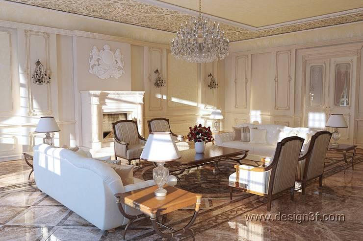 Интерьер посольства: Гостиная в . Автор – студия Design3F, Классический