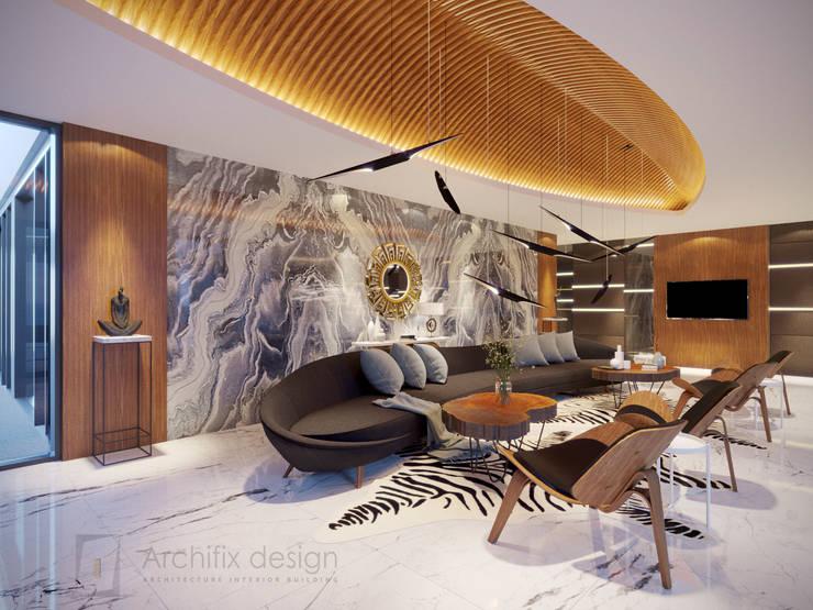 Long Beach center Penthouse – Phu Quoc:  Phòng khách by Archifix Design