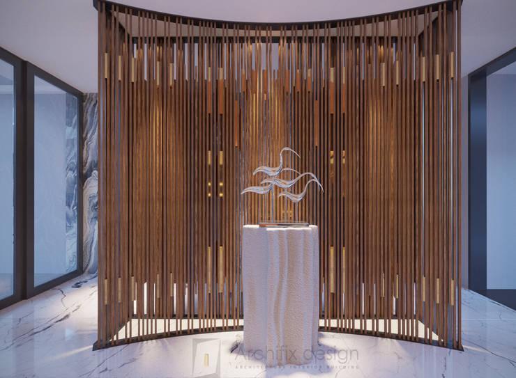 Long Beach center Penthouse – Phu Quoc:  Hành lang by Archifix Design