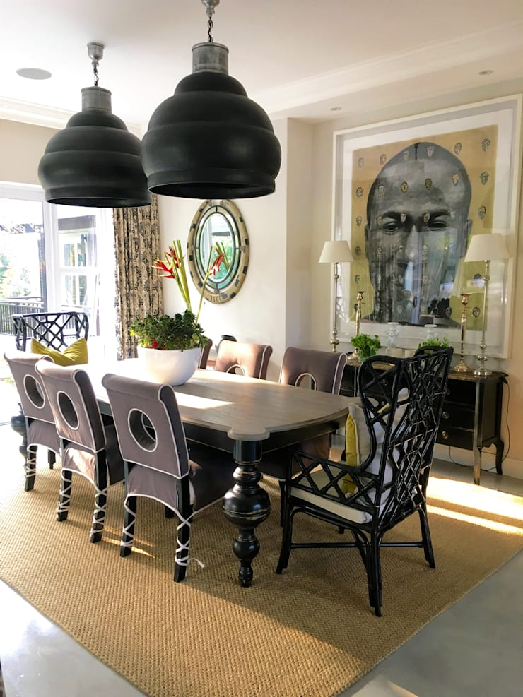 Melrose:  Dining room by ByDezign Interiors