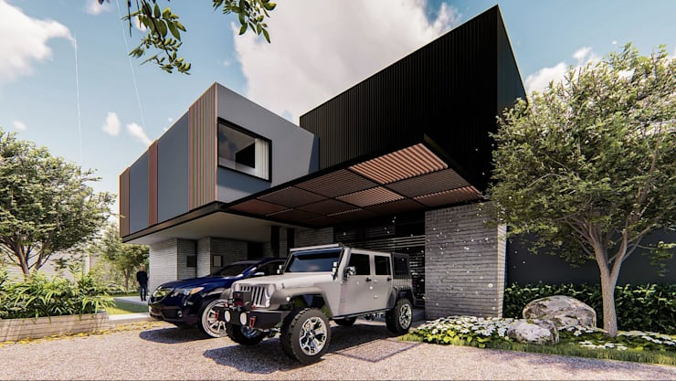 Fachada:  de estilo  por Grupo PAAR Arquitectos