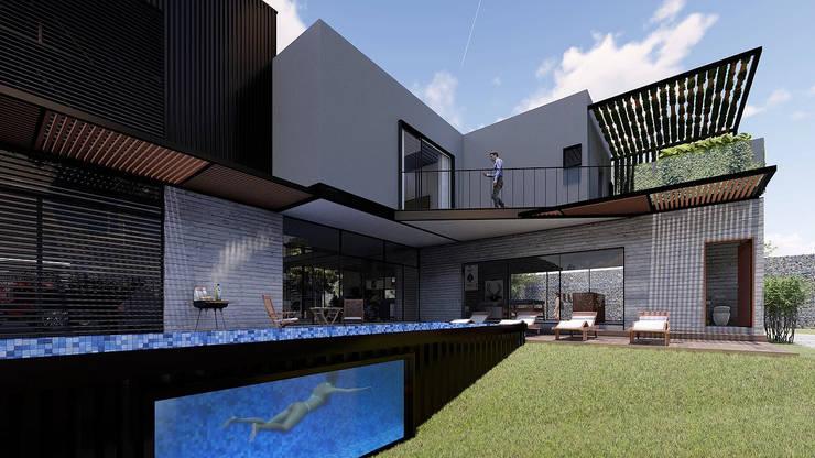Fachada interior:  de estilo  por Grupo PAAR Arquitectos