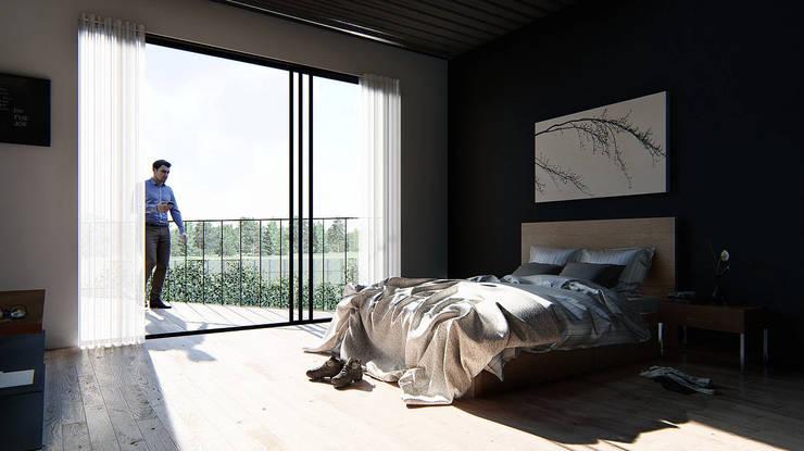 Habitación:  de estilo  por Grupo PAAR Arquitectos