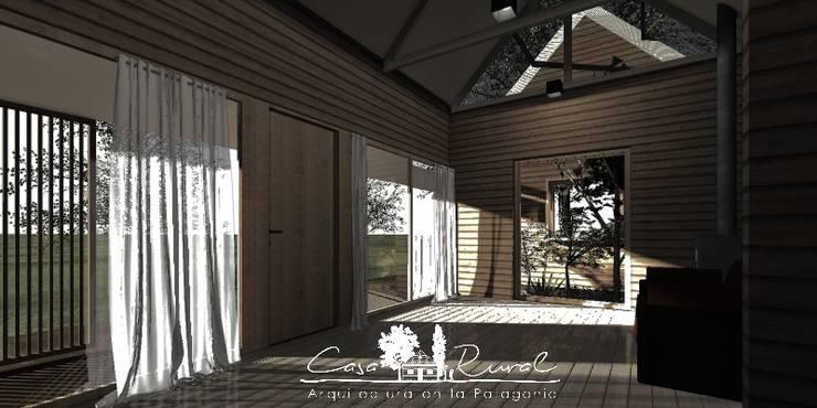 Entrada: Pasillos y hall de entrada de estilo  por casa rural - Arquitectos en Coyhaique