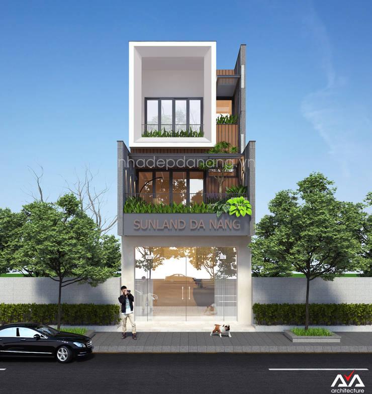 Thiết kế nhà đẹp 3 tầng Khu đô thị sinh thái Hòa Xuân, TP. Đà Nẵng:  Nhà by AVA Architecture