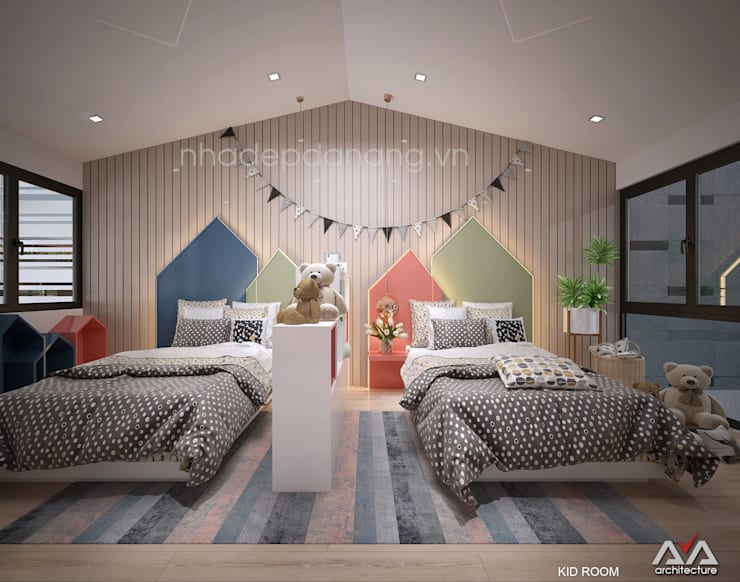 Dormitorios infantiles de estilo  de AVA Architecture
