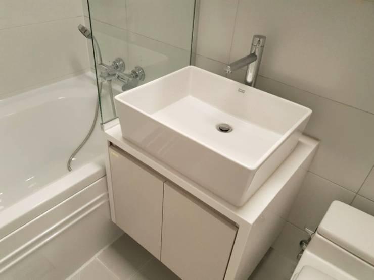 수서삼성아파트 32평: 디자인모리의  욕실,모던