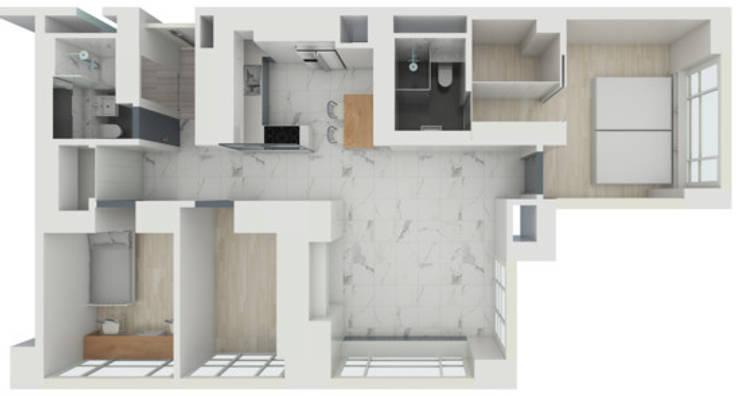 중동 위브더스테이트 45평: 디자인모리의
