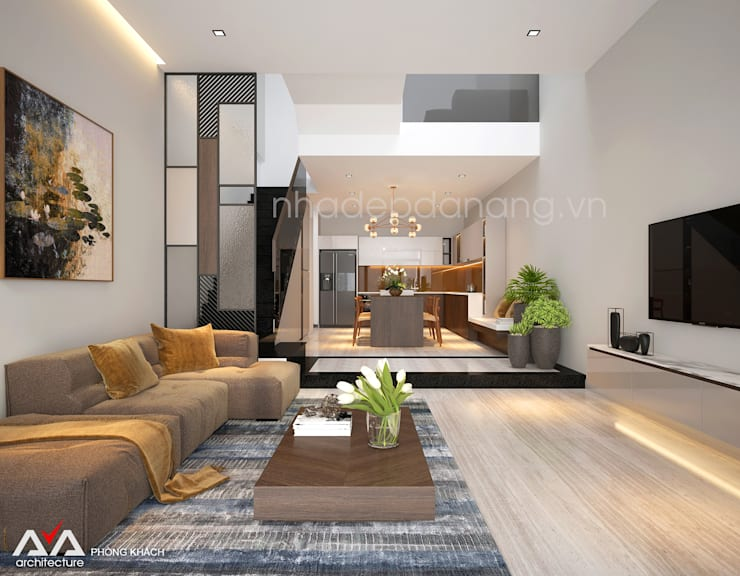 Living room by AVA Architecture