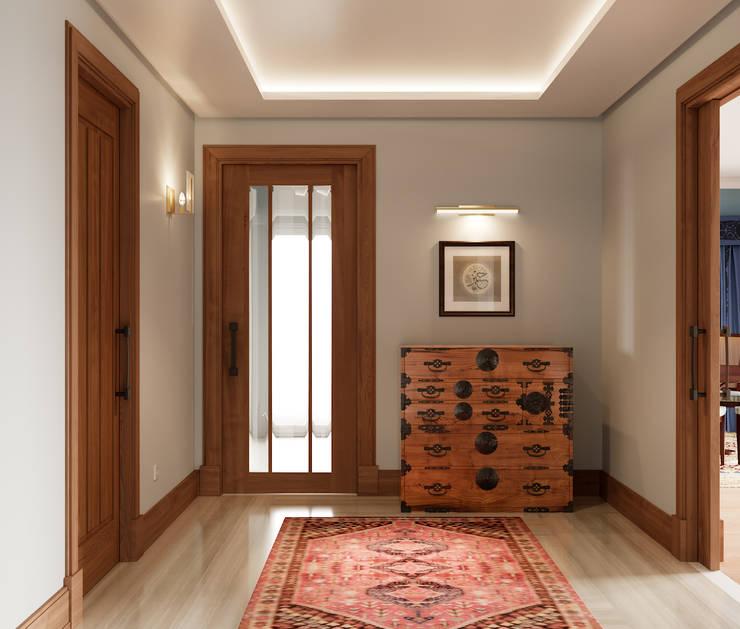 Pent House Apartment with middle eastern and oriental twist, Estoril: Corredores e halls de entrada  por Inêz Fino Interiors, LDA