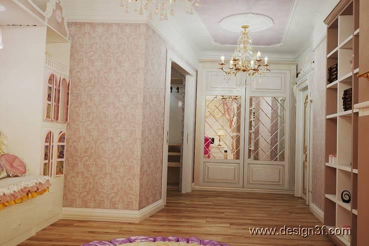 Интерьер детской комнаты для двоих девочек: Детские комнаты в . Автор – студия Design3F, Классический
