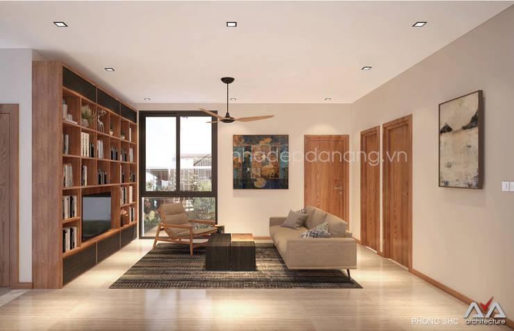 Thiết kế biệt thự hiện đại 3 tầng:  Phòng giải trí by AVA Architecture