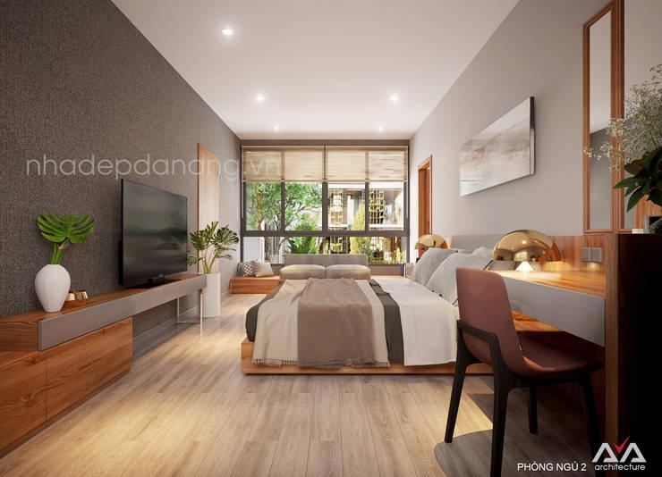 Thiết kế biệt thự hiện đại 3 tầng:  Phòng ngủ by AVA Architecture