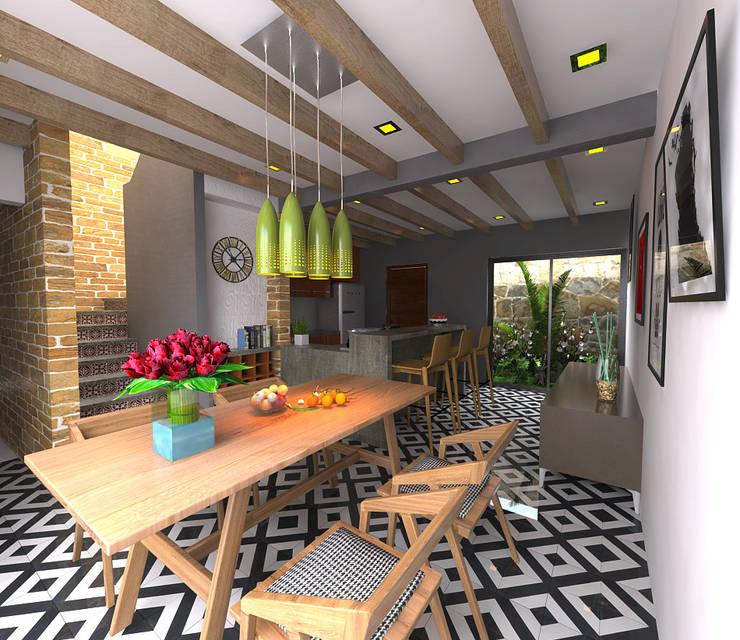Comedores de estilo  por Imagen + Diseño + Arquitectura
