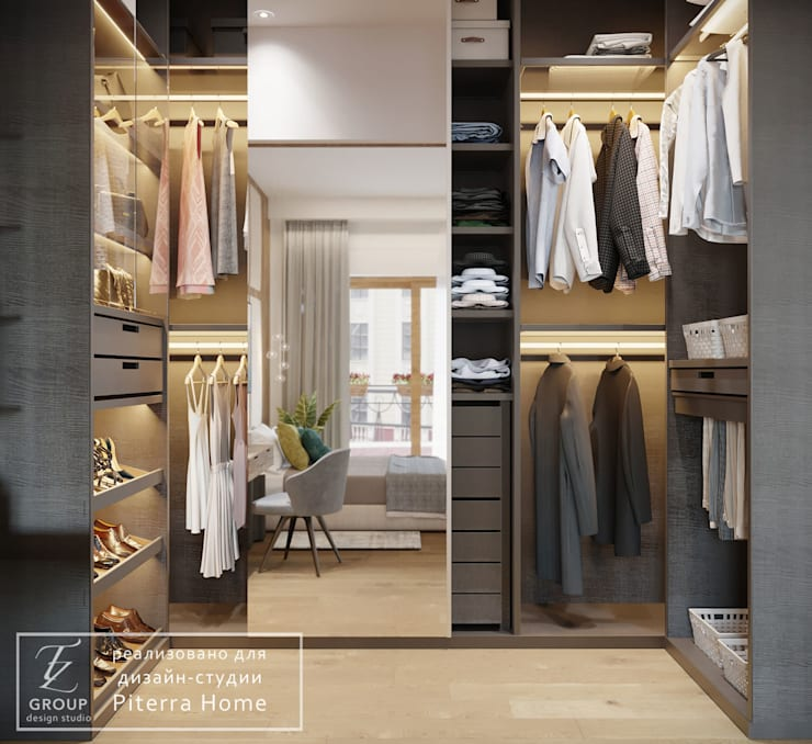 Closets  por Design studio TZinterior group