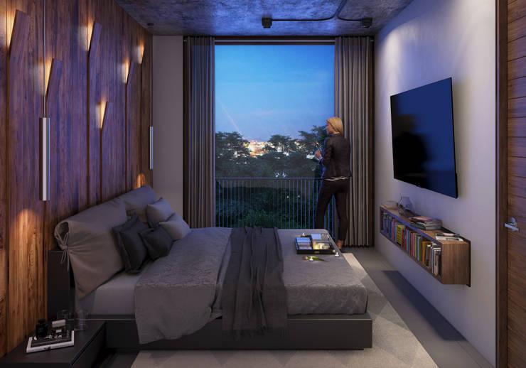 Recamara : Recámaras de estilo  por Stuen Arquitectos