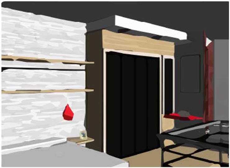 LOFT INDUSTRIAL: Dormitorios de estilo  por Granada Design,