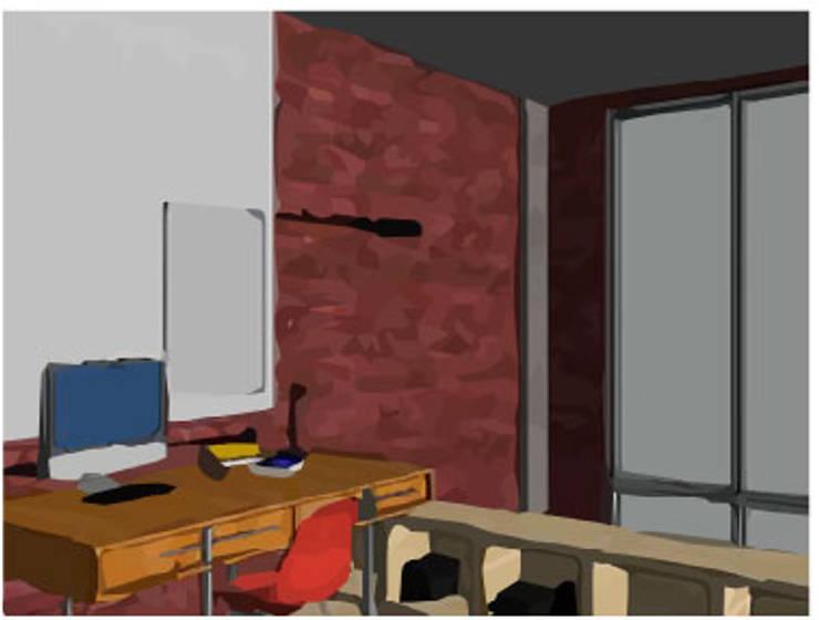 LOFT INDUSTRIAL: Estudios y oficinas de estilo  por Granada Design,