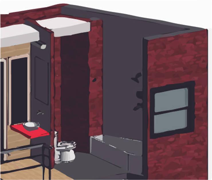 LOFT INDUSTRIAL: Baños de estilo  por Granada Design,