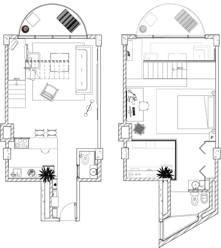 LOFT INDUSTRIAL:  de estilo  por Granada Design,