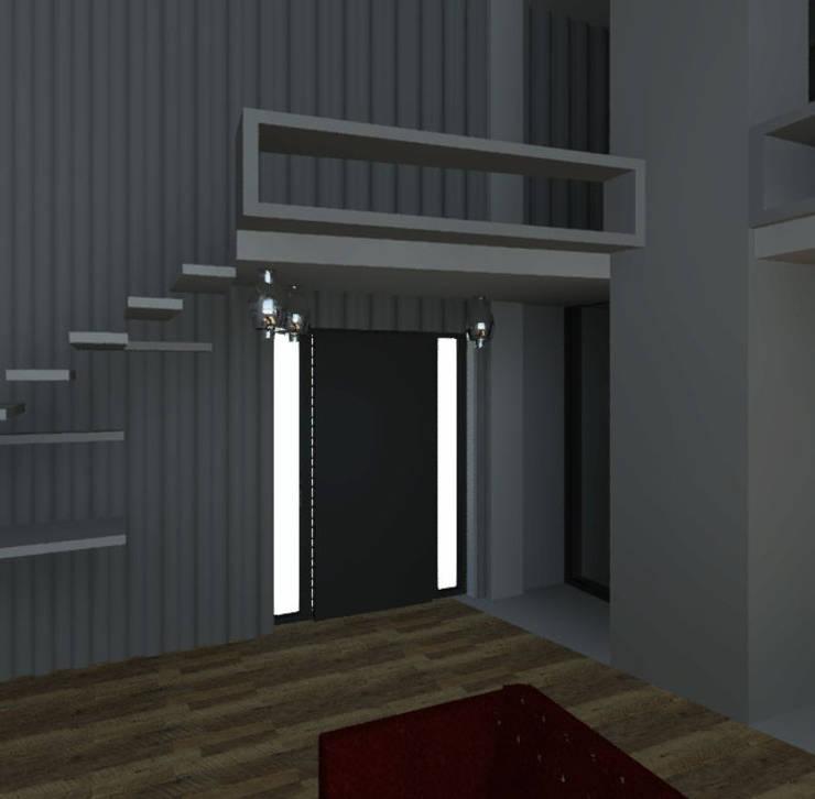 LOFT: Pasillos y recibidores de estilo  por Granada Design
