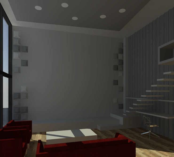 LOFT: Livings de estilo  por Granada Design