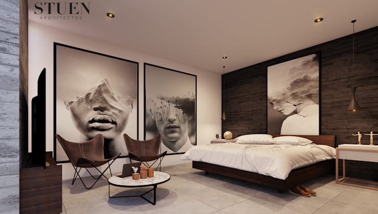 Bedroom by Stuen Arquitectos