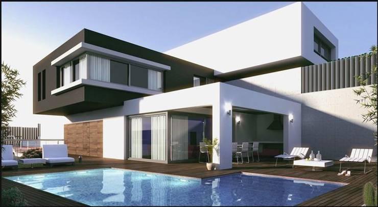 Casas de estilo moderno por ESAC