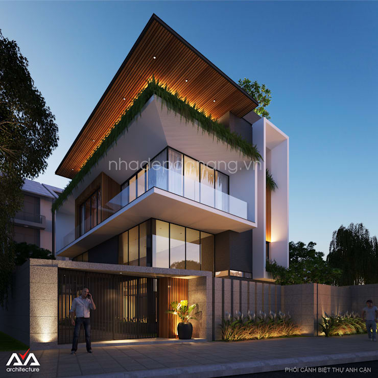 Mẫu thiết kế biệt thự đẹp:  Nhà by AVA Architecture