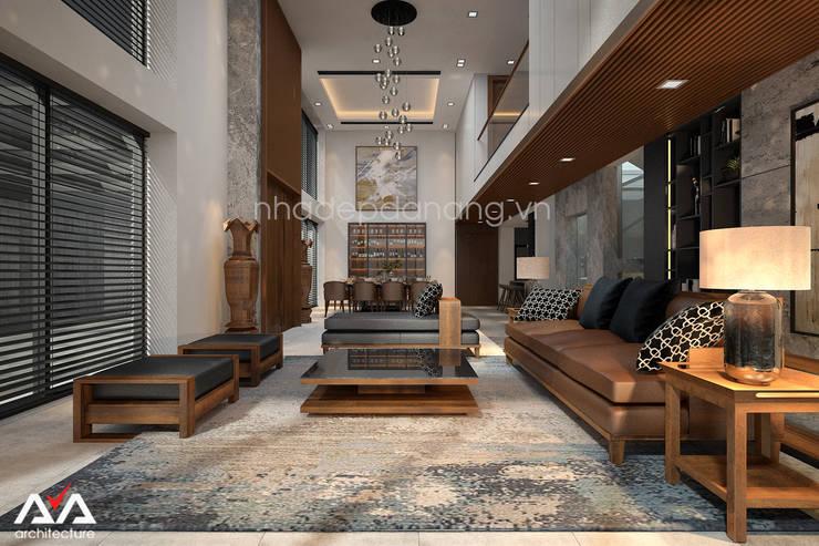 Mẫu thiết kế biệt thự đẹp:  Phòng khách by AVA Architecture