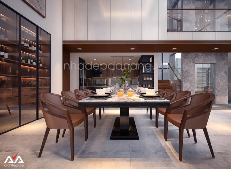 Mẫu thiết kế biệt thự đẹp:  Nhà bếp by AVA Architecture